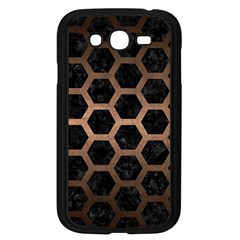 Hexagon2 Black Marble & Bronze Metal Samsung Galaxy Grand Duos I9082 Case (black) by trendistuff