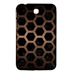 Hexagon2 Black Marble & Bronze Metal Samsung Galaxy Tab 3 (7 ) P3200 Hardshell Case  by trendistuff