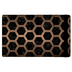 Hexagon2 Black Marble & Bronze Metal Apple Ipad Pro 12 9   Flip Case by trendistuff