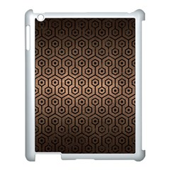 Hexagon1 Black Marble & Bronze Metal (r) Apple Ipad 3/4 Case (white) by trendistuff