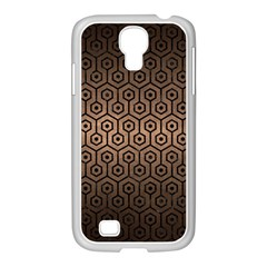 Hexagon1 Black Marble & Bronze Metal (r) Samsung Galaxy S4 I9500/ I9505 Case (white) by trendistuff