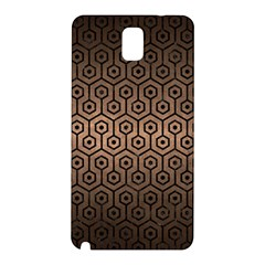 Hexagon1 Black Marble & Bronze Metal (r) Samsung Galaxy Note 3 N9005 Hardshell Back Case by trendistuff