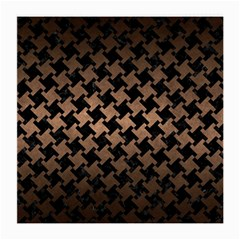 Houndstooth2 Black Marble & Bronze Metal Medium Glasses Cloth