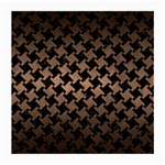 HOUNDSTOOTH2 BLACK MARBLE & BRONZE METAL Medium Glasses Cloth Front