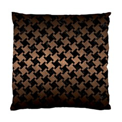 Houndstooth2 Black Marble & Bronze Metal Standard Cushion Case (two Sides) by trendistuff