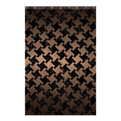 Houndstooth2 Black Marble & Bronze Metal Shower Curtain 48  X 72  (small) by trendistuff