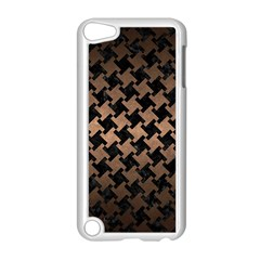 Houndstooth2 Black Marble & Bronze Metal Apple Ipod Touch 5 Case (white) by trendistuff