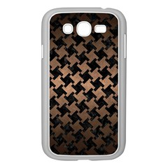 Houndstooth2 Black Marble & Bronze Metal Samsung Galaxy Grand Duos I9082 Case (white) by trendistuff