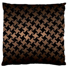Houndstooth2 Black Marble & Bronze Metal Standard Flano Cushion Case (two Sides) by trendistuff