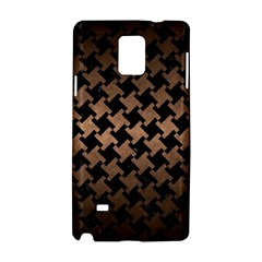 Houndstooth2 Black Marble & Bronze Metal Samsung Galaxy Note 4 Hardshell Case by trendistuff