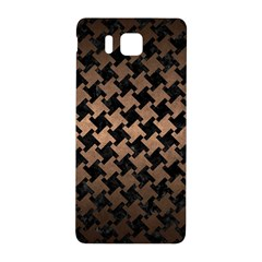 Houndstooth2 Black Marble & Bronze Metal Samsung Galaxy Alpha Hardshell Back Case by trendistuff
