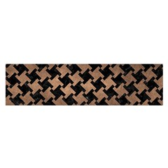 Houndstooth2 Black Marble & Bronze Metal Satin Scarf (oblong) by trendistuff
