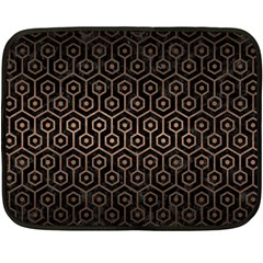 Hexagon1 Black Marble & Bronze Metal Fleece Blanket (mini) by trendistuff