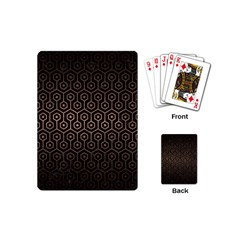 Hexagon1 Black Marble & Bronze Metal Playing Cards (mini) by trendistuff