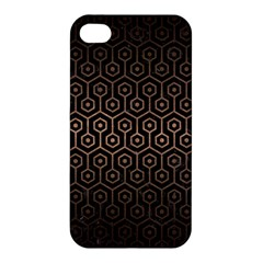 Hexagon1 Black Marble & Bronze Metal Apple Iphone 4/4s Premium Hardshell Case by trendistuff