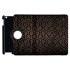 Hexagon1 Black Marble & Bronze Metal Apple Ipad 2 Flip 360 Case