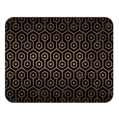 Hexagon1 Black Marble & Bronze Metal Double Sided Flano Blanket (large) by trendistuff