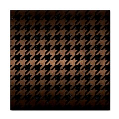 Houndstooth1 Black Marble & Bronze Metal Tile Coaster by trendistuff