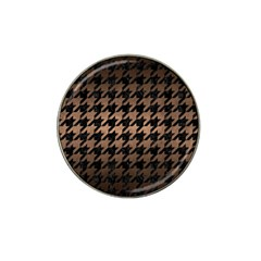 Houndstooth1 Black Marble & Bronze Metal Hat Clip Ball Marker (10 Pack) by trendistuff