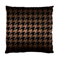 Houndstooth1 Black Marble & Bronze Metal Standard Cushion Case (two Sides) by trendistuff