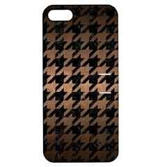 Houndstooth1 Black Marble & Bronze Metal Apple Iphone 5 Hardshell Case With Stand by trendistuff