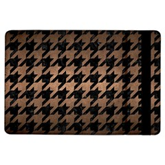Houndstooth1 Black Marble & Bronze Metal Apple Ipad Air Flip Case by trendistuff