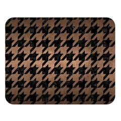 Houndstooth1 Black Marble & Bronze Metal Double Sided Flano Blanket (large) by trendistuff