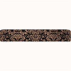 Damask2 Black Marble & Bronze Metal Small Bar Mat by trendistuff