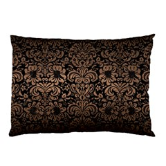 Damask2 Black Marble & Bronze Metal Pillow Case by trendistuff