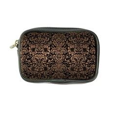 Damask2 Black Marble & Bronze Metal Coin Purse by trendistuff