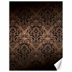 Damask1 Black Marble & Bronze Metal (r) Canvas 12  X 16  by trendistuff