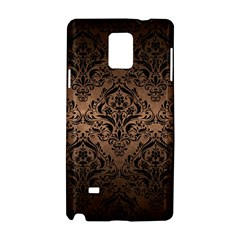 Damask1 Black Marble & Bronze Metal (r) Samsung Galaxy Note 4 Hardshell Case by trendistuff