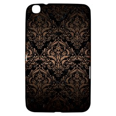 Damask1 Black Marble & Bronze Metal Samsung Galaxy Tab 3 (8 ) T3100 Hardshell Case  by trendistuff