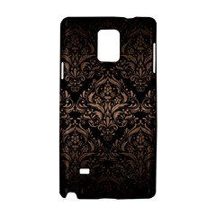 Damask1 Black Marble & Bronze Metal Samsung Galaxy Note 4 Hardshell Case by trendistuff