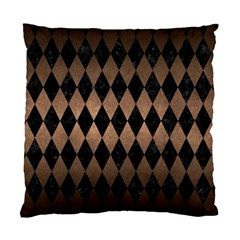 Diamond1 Black Marble & Bronze Metal Standard Cushion Case (two Sides) by trendistuff