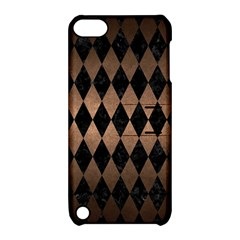 Diamond1 Black Marble & Bronze Metal Apple Ipod Touch 5 Hardshell Case With Stand by trendistuff