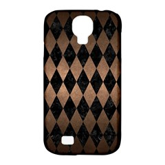 Diamond1 Black Marble & Bronze Metal Samsung Galaxy S4 Classic Hardshell Case (pc+silicone) by trendistuff
