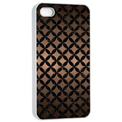 Circles3 Black Marble & Bronze Metal (r) Apple Iphone 4/4s Seamless Case (white) by trendistuff