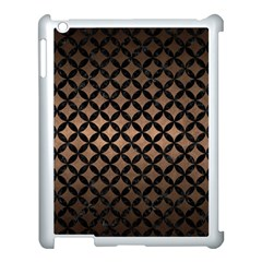 Circles3 Black Marble & Bronze Metal (r) Apple Ipad 3/4 Case (white) by trendistuff