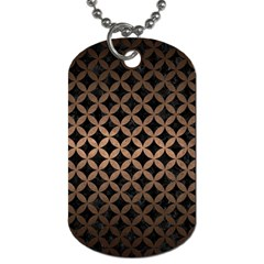 Circles3 Black Marble & Bronze Metal Dog Tag (two Sides) by trendistuff
