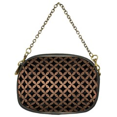 Circles3 Black Marble & Bronze Metal Chain Purse (one Side) by trendistuff