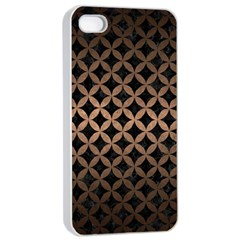 Circles3 Black Marble & Bronze Metal Apple Iphone 4/4s Seamless Case (white) by trendistuff