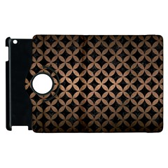 Circles3 Black Marble & Bronze Metal Apple Ipad 3/4 Flip 360 Case by trendistuff