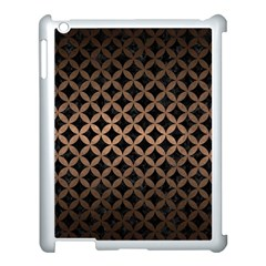 Circles3 Black Marble & Bronze Metal Apple Ipad 3/4 Case (white) by trendistuff