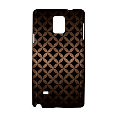 Circles3 Black Marble & Bronze Metal Samsung Galaxy Note 4 Hardshell Case by trendistuff