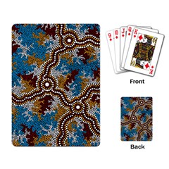 Aboriginal Art – Wetland Dreaming Playing Card