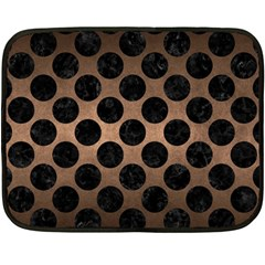 Circles2 Black Marble & Bronze Metal (r) Fleece Blanket (mini) by trendistuff