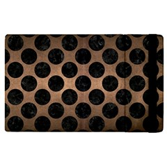 Circles2 Black Marble & Bronze Metal (r) Apple Ipad Pro 12 9   Flip Case by trendistuff