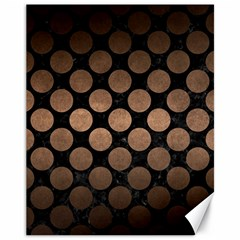 Circles2 Black Marble & Bronze Metal Canvas 11  X 14  by trendistuff