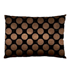 Circles2 Black Marble & Bronze Metal Pillow Case (two Sides) by trendistuff